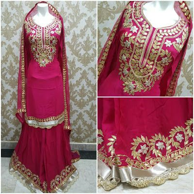 8b78158c99 Rajasthani Gota Patti work Suits: Beautiful georgette garara suits with  stitched Gar.