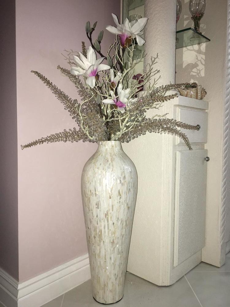 Florero De Marfil De Nácar Para Suelo Florero Marfil Nacar Suelo Floor Vase Decor Floor Flower Vases Floor Vase