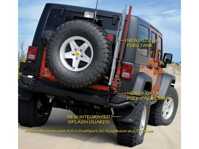 This rear bumper from AEV, holds 5gal of potable water, a ...
