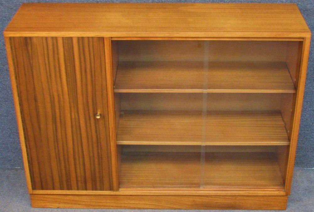 1950s Morris Of Glasgow Cumbrae Low Teak Bookcase Bookshelves