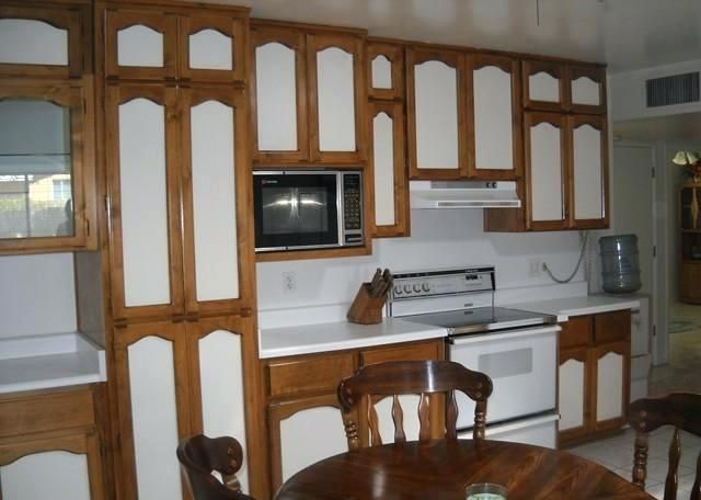 two toned cabinet paint - Google Search   Two tone kitchen ...
