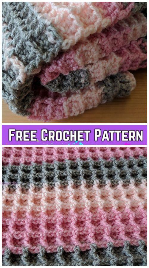 Crochet Waffle Stitch Blanket Free Crochet Patterns Video Tutorial