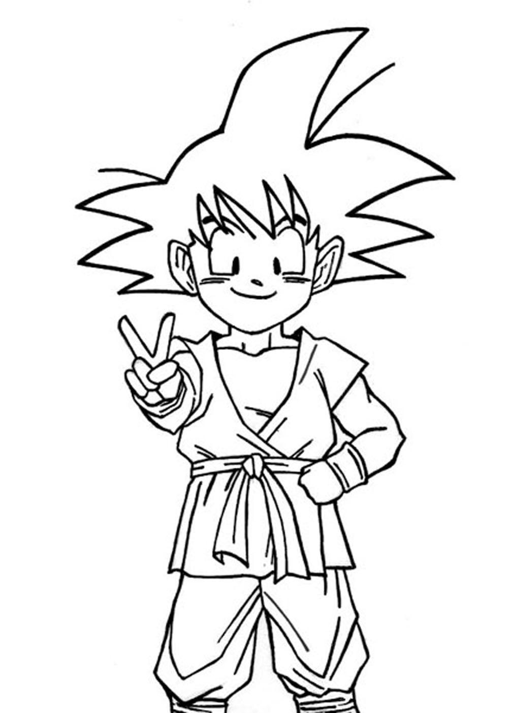 Imagen de Goku dragon ball GT niño pra | Imagen para colorear ...