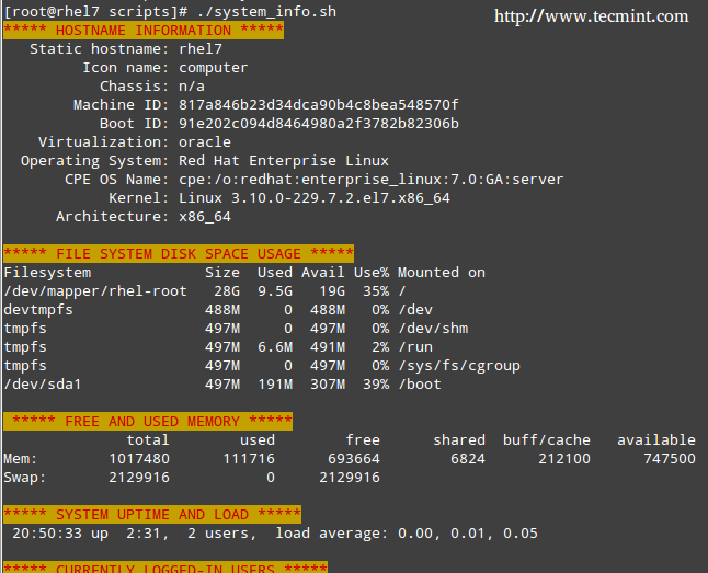 Using Shell Scripting To Automate Linux System Maintenance Tasks Part 4 Linux Linux Shell Script