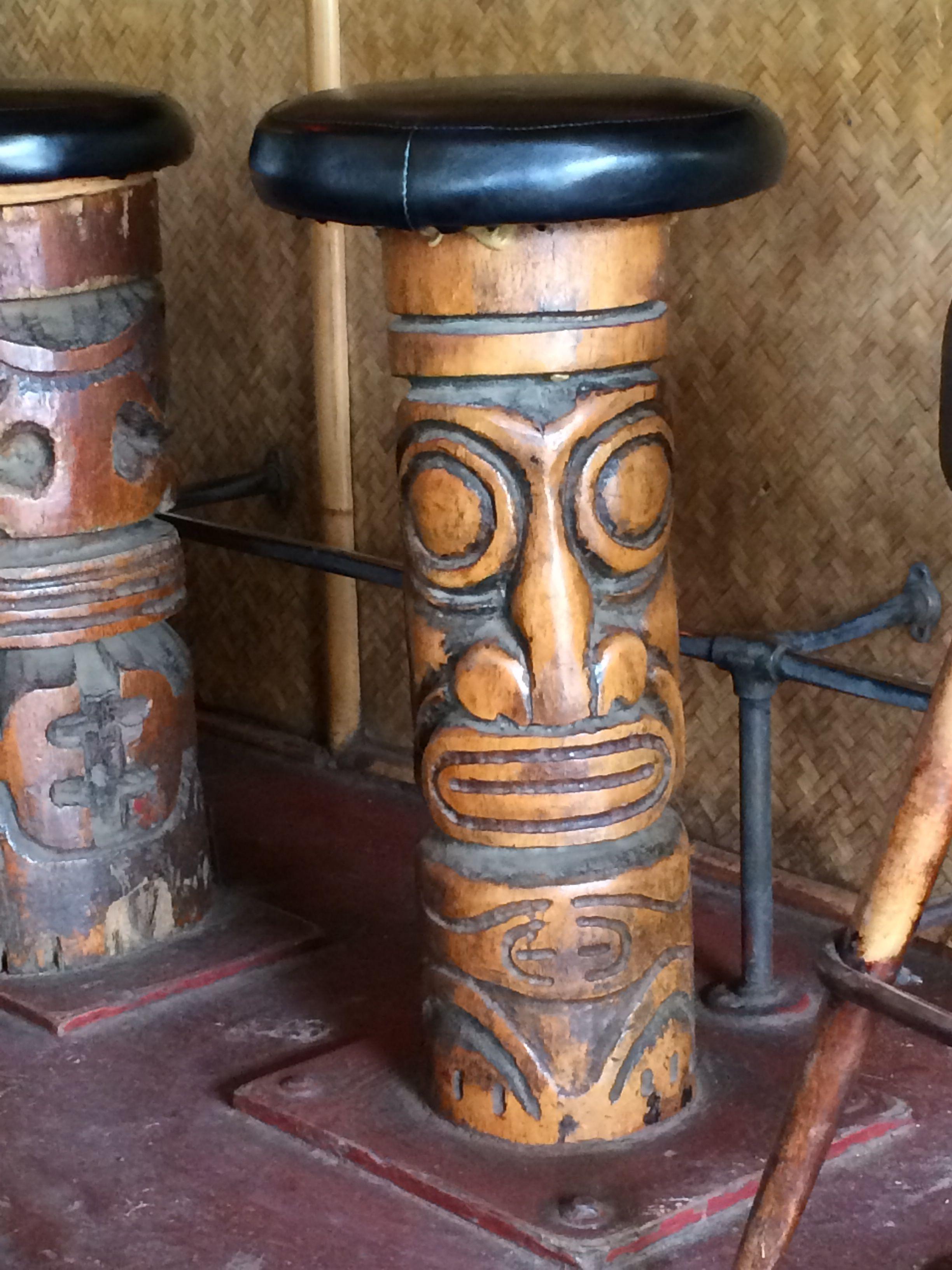 Awesome Tiki Bar Stools At Tahiti Nui Lovely Places