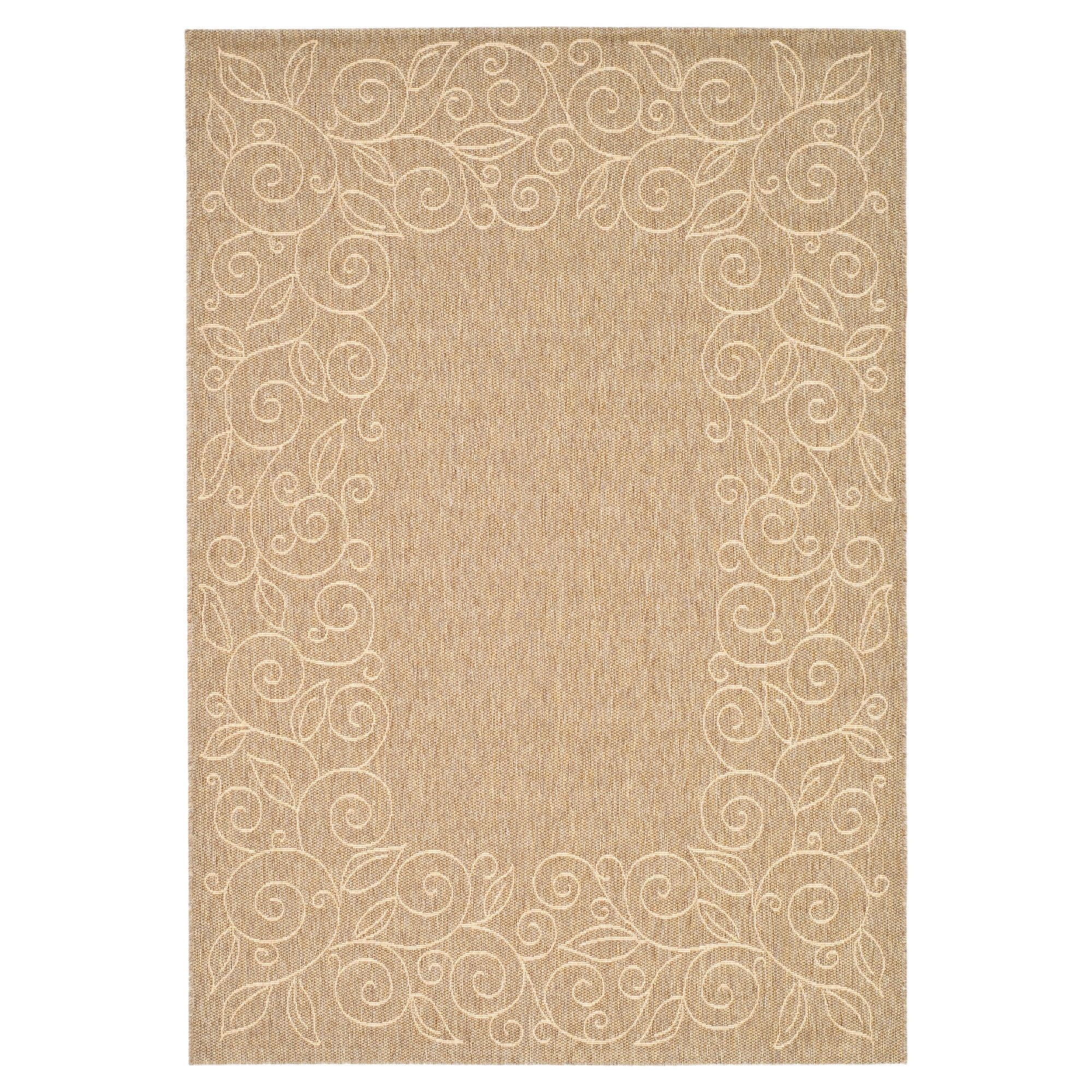 "Glanville Rectangle 5 3"" X 7 7"" Outdoor Patio Rug Dark Beige"