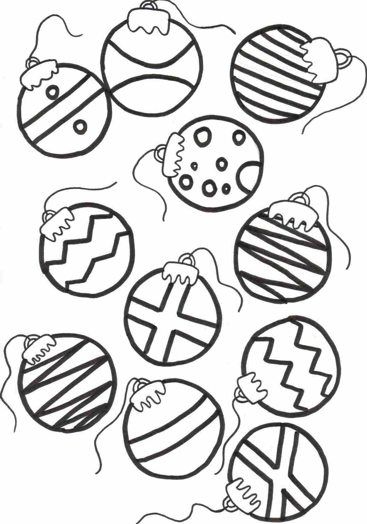 Download And Print Christmas Coloring Pages For Kids Ornaments