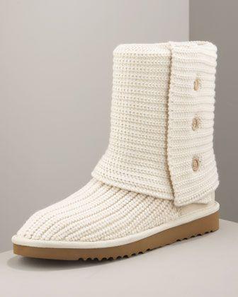 classic cardy crochet boot cream by ugg australia at neiman marcus rh pinterest com