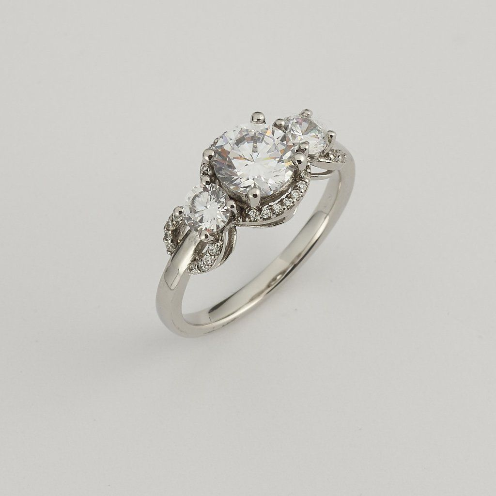 K white gold moissanite diamond ring moissanite diamonds white