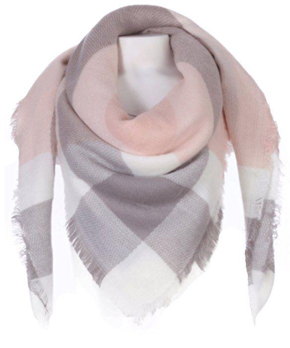 Xxl Schal Karo Rosa Grau Weiss Clothes Fashion Outfits Fashion