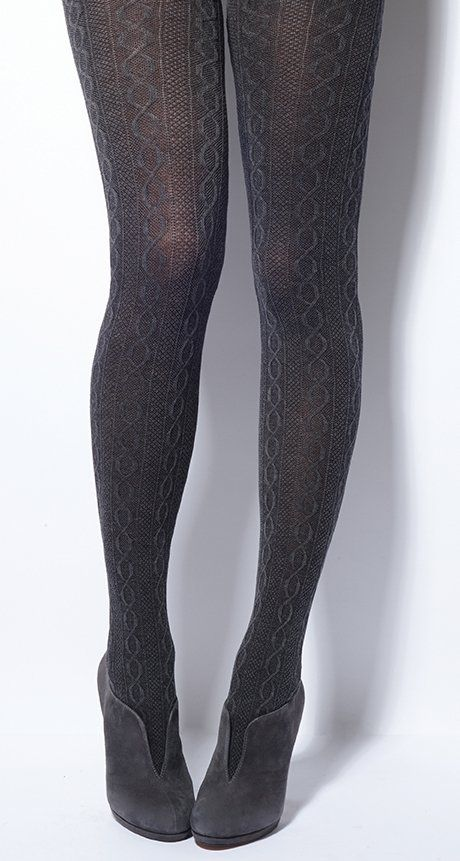 f008ca1bcdb4d CHARNOS Marl Cable Cotton Tights (FW 2015.16) | Autumn look | Cotton ...