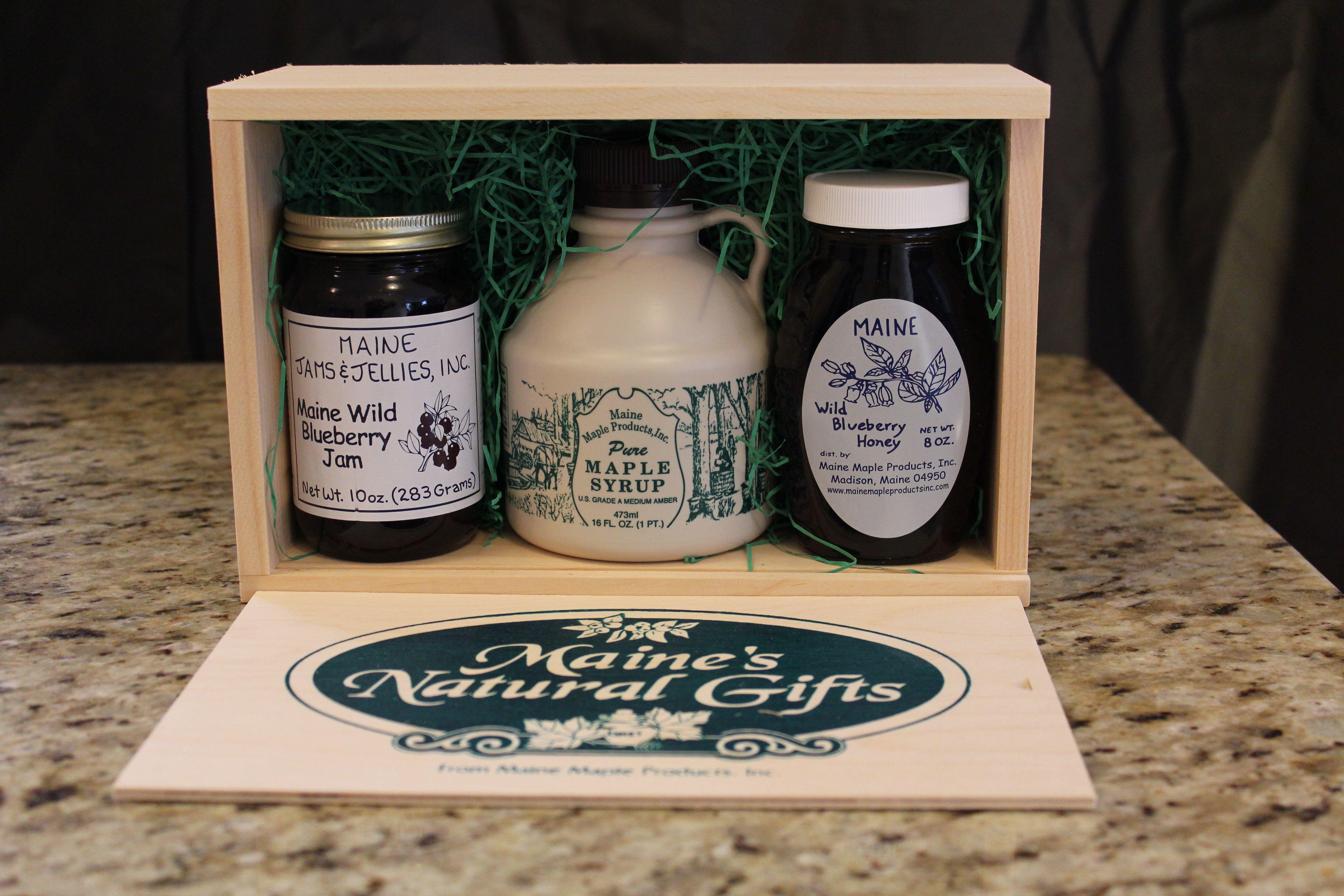 Maine gift box maine gifts maine blueberry