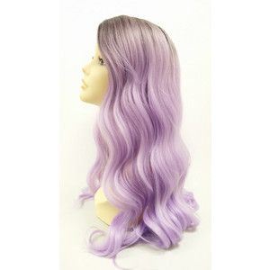 Long 25 Inch Light Purple W Dark Roots Long Wavy Wig With Heat Resistant Fiber 115-530-Gigi-tt1b/