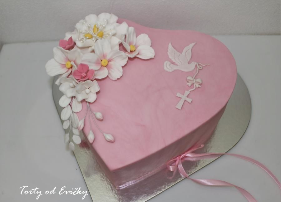 First Communion Or Confirmation Cake Topper Personalised Heart Shaped For a GIRL