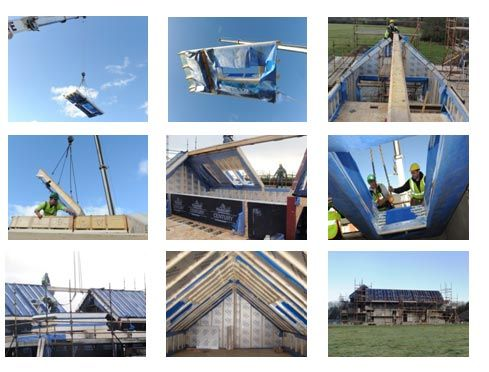 Roof systems kingspan sip roof panels prefabricated roof for Sip building kits