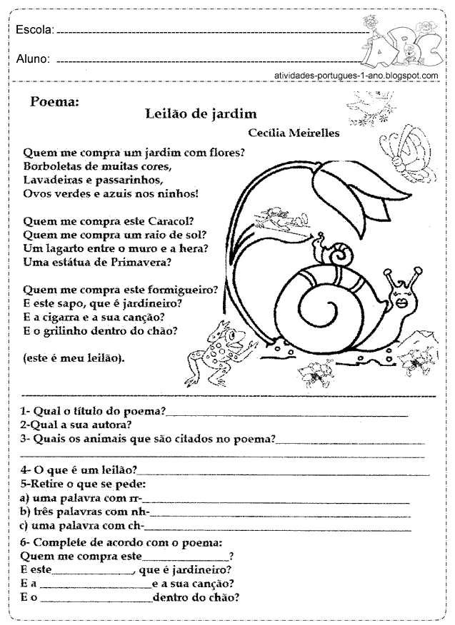 Super Atividades+com+poema+interpretacao+de+texto.png (637×876)   Thais  OJ35