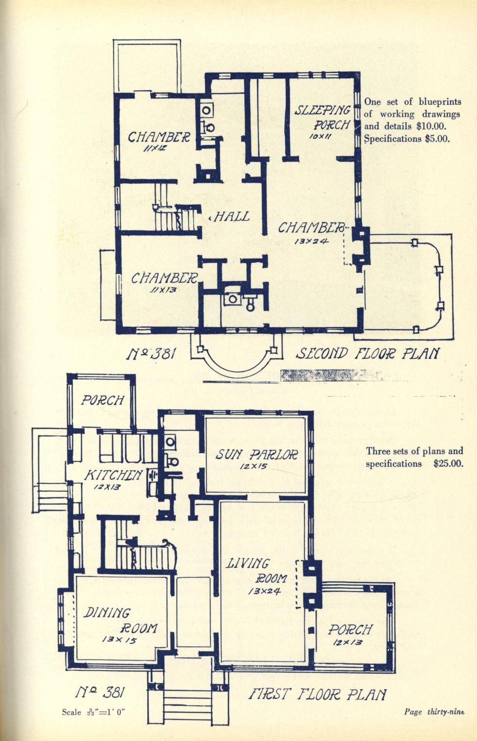 Two Story Homes Vintage House Plans Floor Plans Cabin Plans