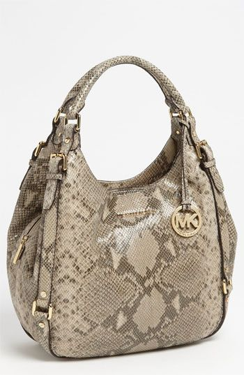 be495599fa07 Python   )))) MICHAEL Michael Kors  Bedford - Large  Python Embossed ...