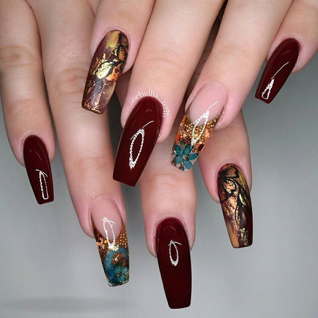 Beautiful colors Are you looking for acrylic nail designs for fall