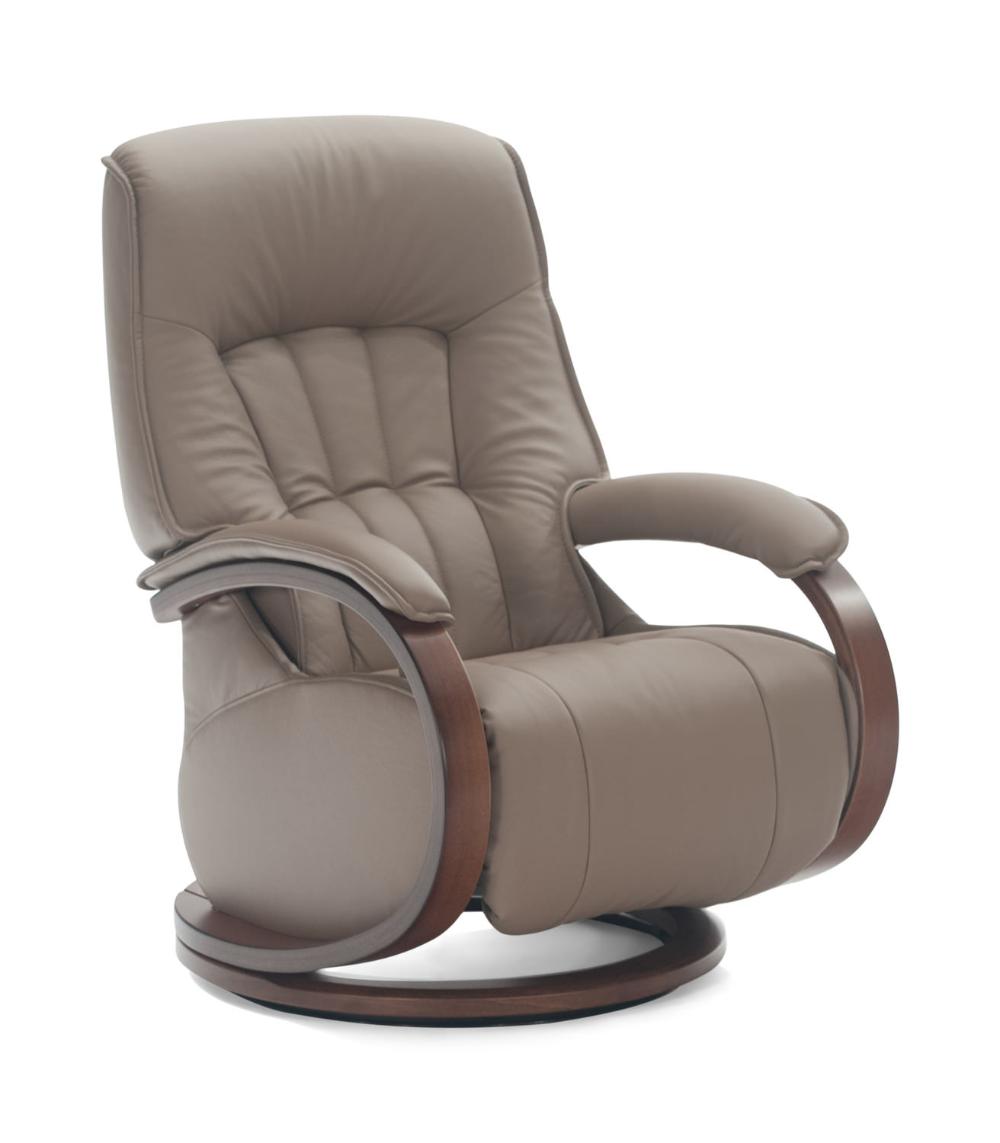 Mosel Leather Swivel Recliner Swivel recliner, Recliner