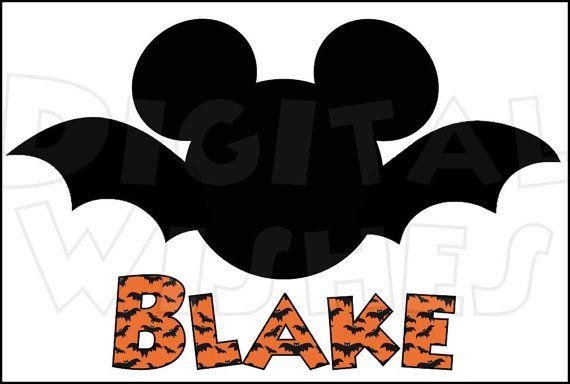 mickey mouse head ears bat halloween digital iron on transfer clip rh pinterest com Halloween Witch Clip Art Halloween Spider Clip Art