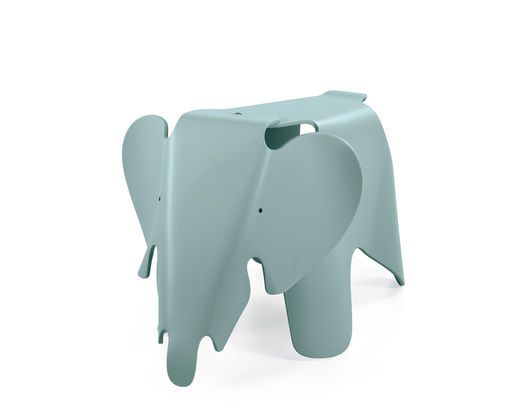 Eames Elephant ice grey 1945, also lime green, light pink