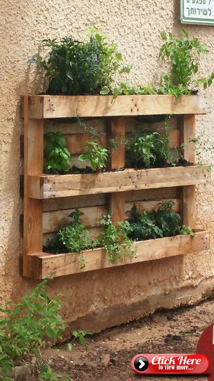 diy palettes pallet garden walls vertical pallet garden on indoor herb garden diy wall vertical planter id=42265