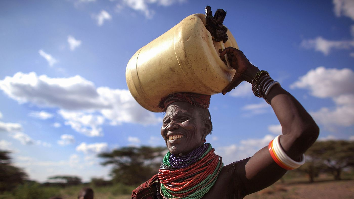 Millions of women take a long walk with a 40pound water