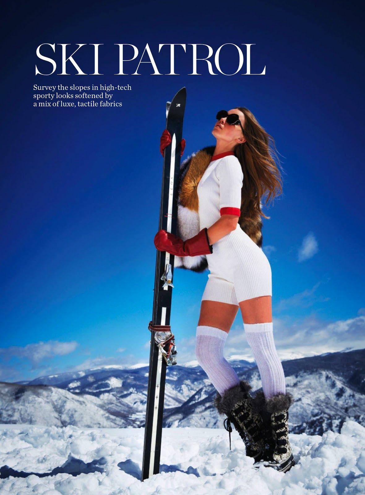 Ski Patrol Serafima Kobzeva By Rick Truscott For Marie Claire Australia July 2013 Visual Optimis Editorial Fashion Marie Claire Australia Winter Ski Fashion