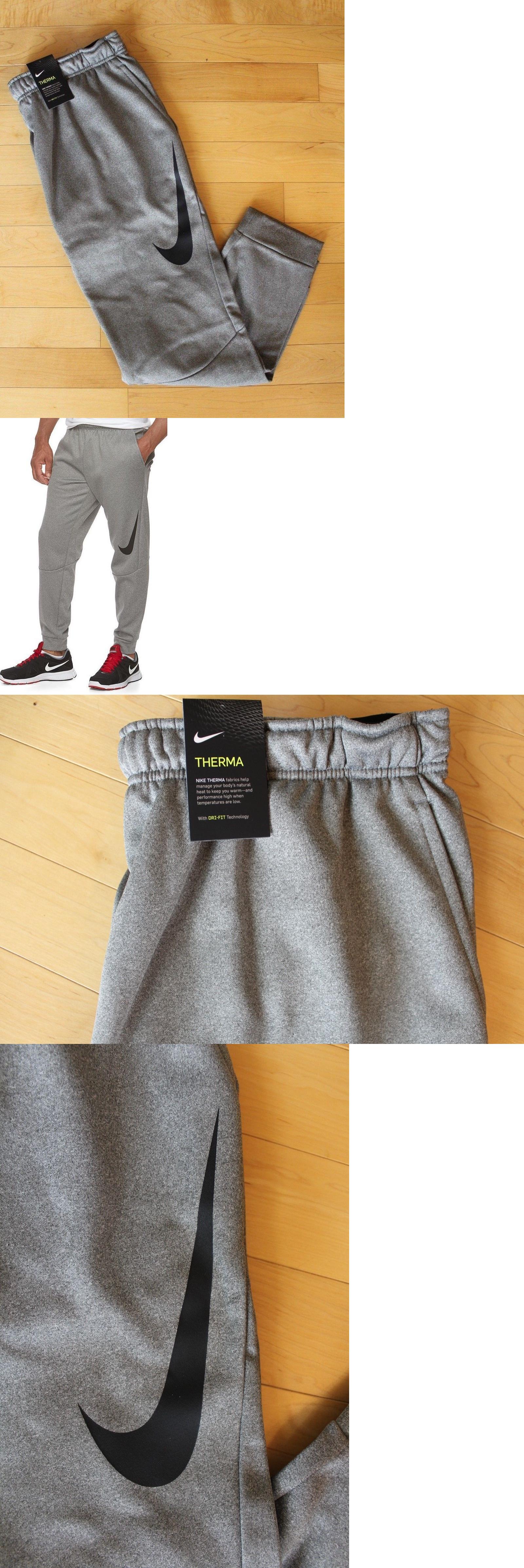 fa086a7f1036 Men Athletics  Nwt Nike Big And Tall Therma Jogger Sweatpants Gray Black  Xlt 2Xlt 3Xlt