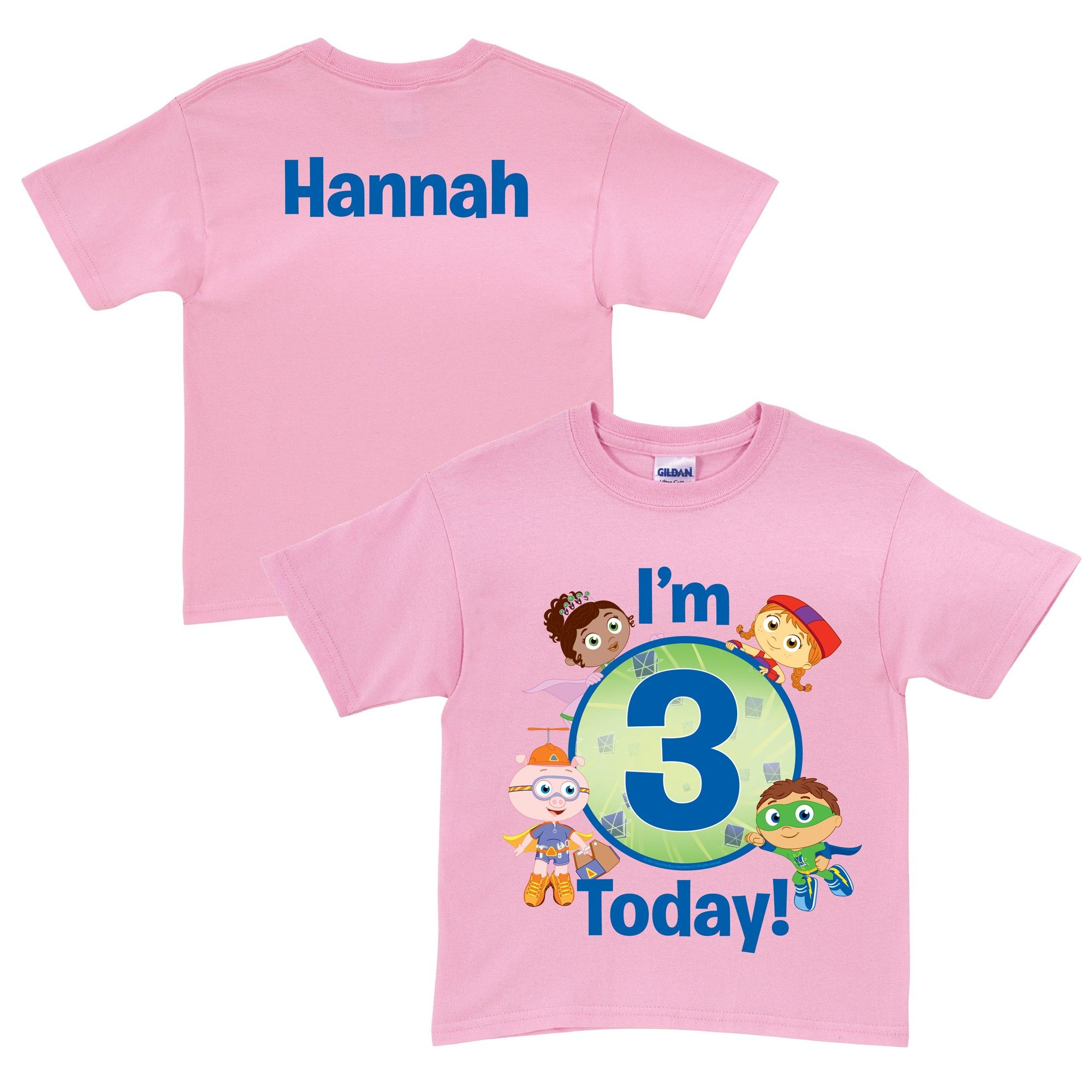 Super Why! Super Readers Birthday Pink T-Shirt from PBS Kids Shop