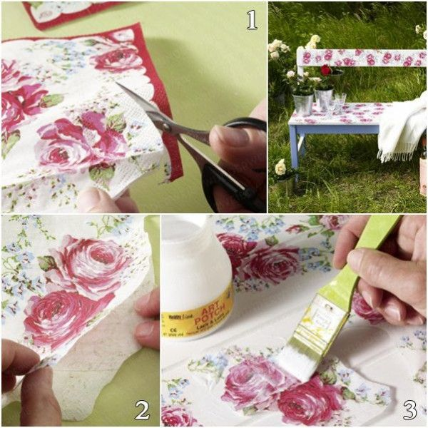 fabartdiy ? decoupage old furniture diy tutorial (video) | old ... - Decoupage En Muebles Tutorial
