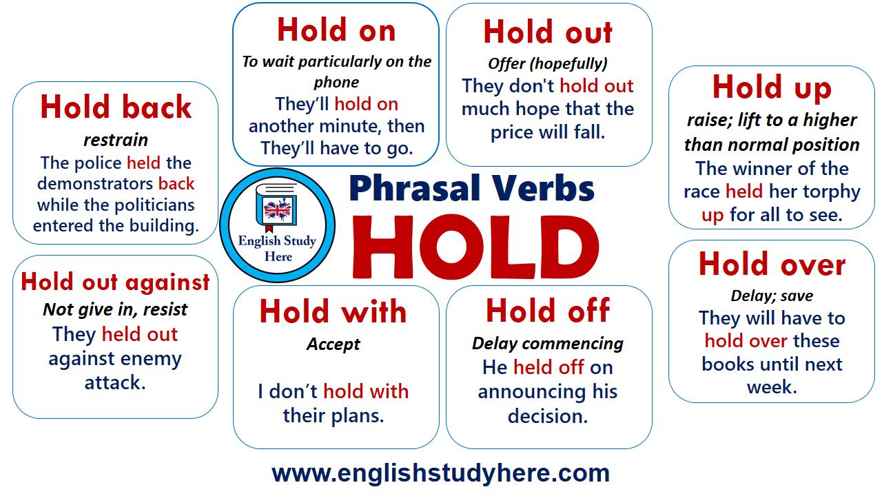 Phrasal Verbs Hold In English English Study English Vocabulary English Grammar [ 720 x 1280 Pixel ]
