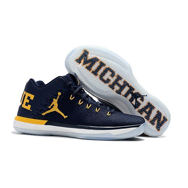 best website c6c31 8c7b0 Nike Air Jordan 31 Low Michigan Men Basketball Shoes