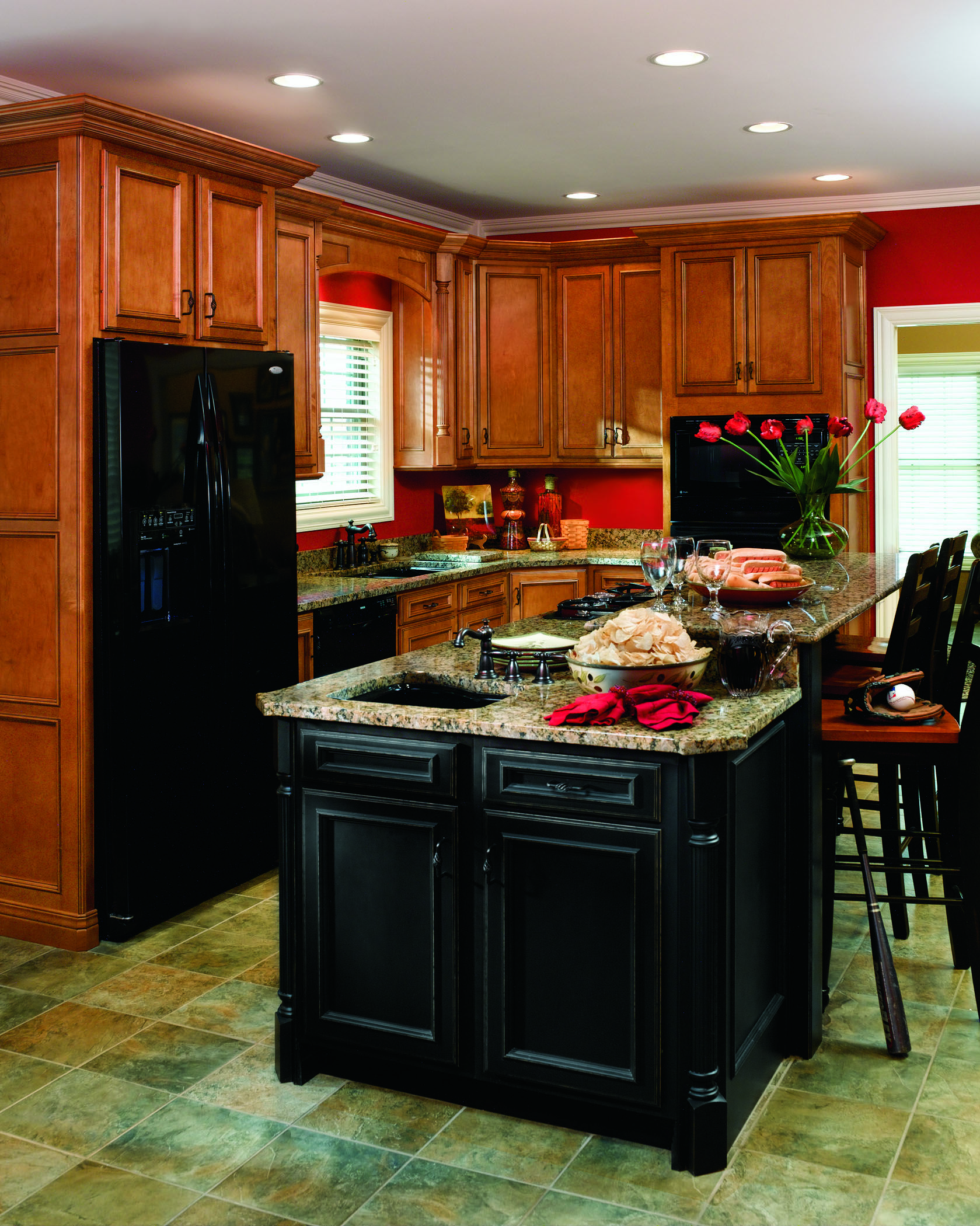 trend kitchen cabinets 169 haas cabinet co stafford door style partial overlay 2930