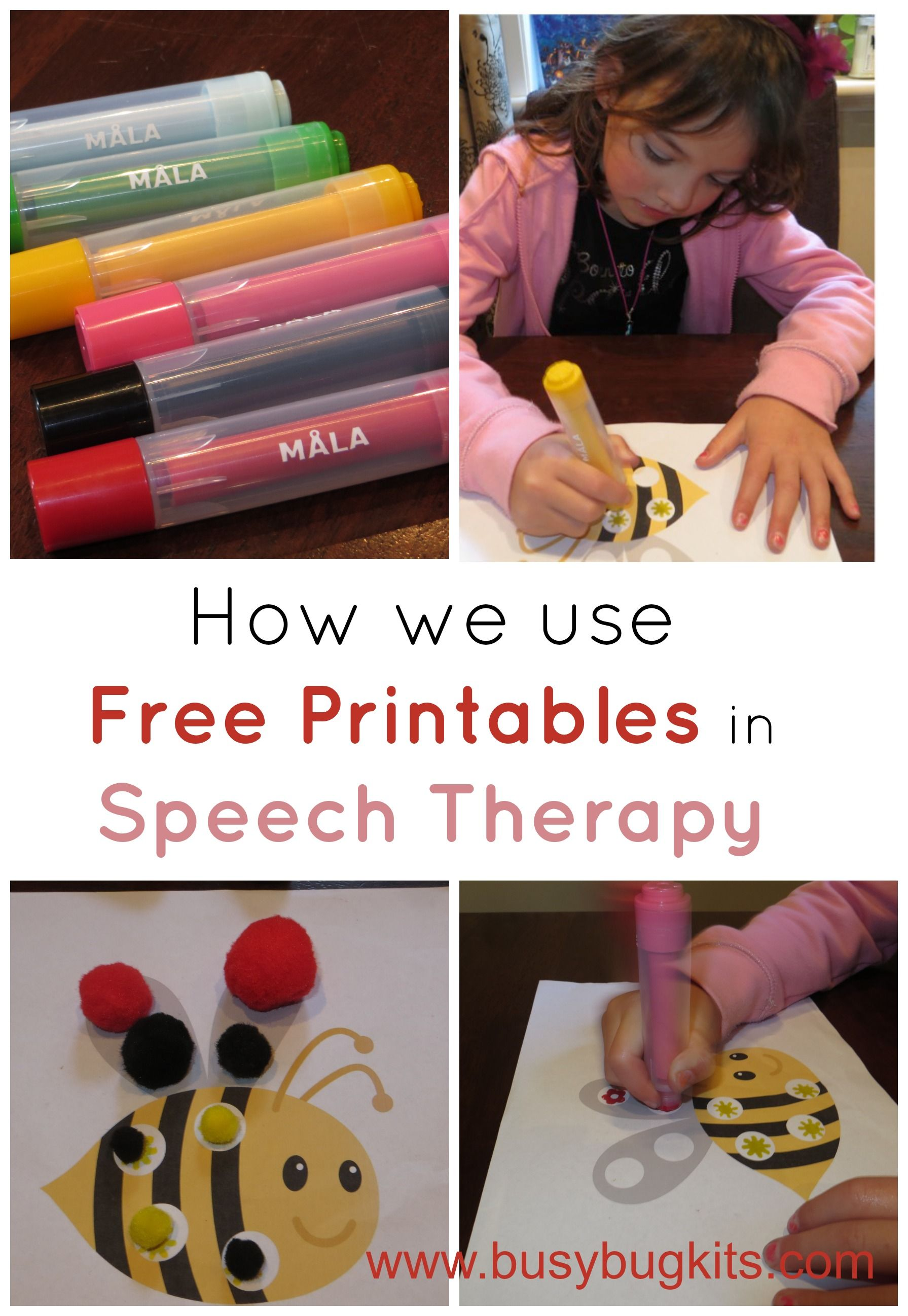 Using Free Printables With Preschoolers Therapy For