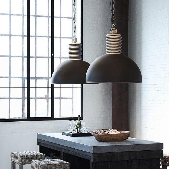 Popular LOS XL Gro e Loft Fabriklampe H ngeleuchte mit Kette im Industriedesign