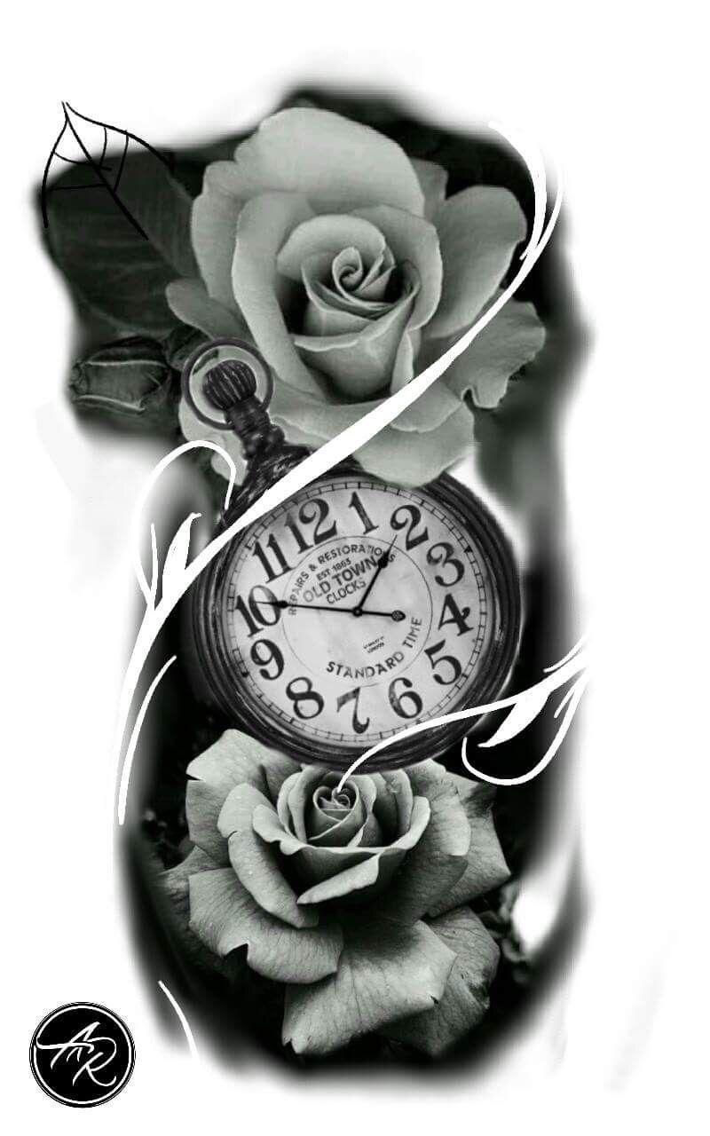 Clock drawing Tattoo tatuagem De Relogio | Tattoos | Pinterest ...