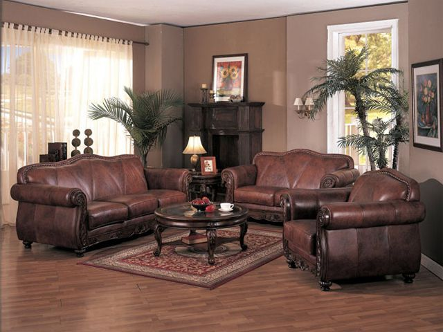 living room decorating ideas with brown leather furniture living ...