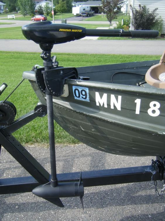 transom mount trolling motor converted to bow mount