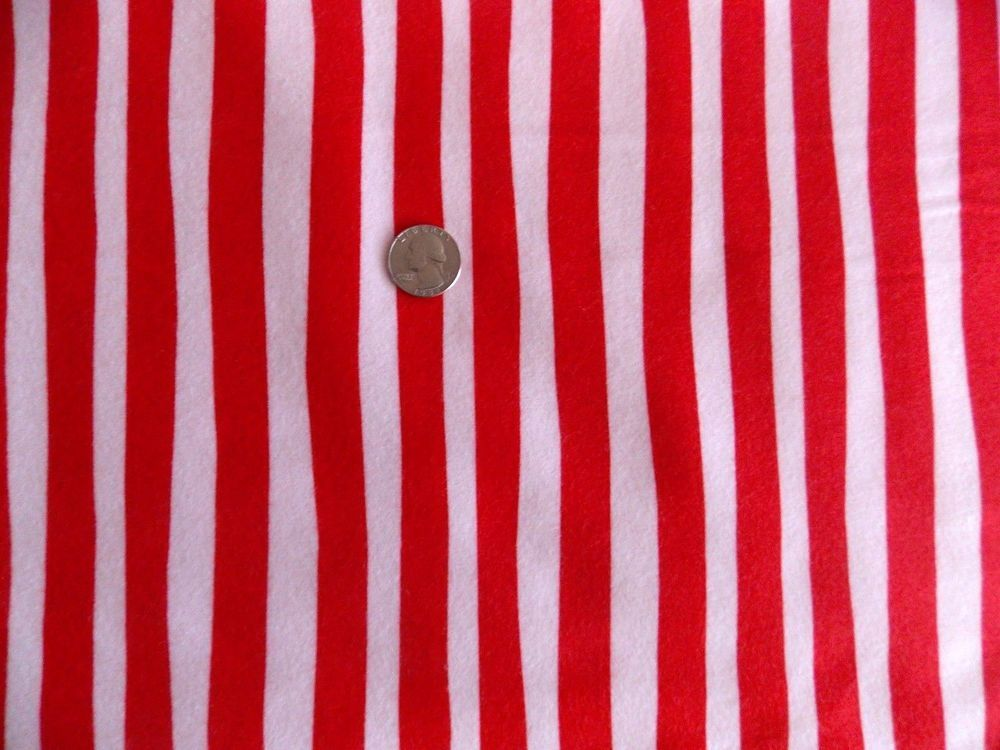 Celebrate Suess Flannel Red White Stripe Cat In The Hat Dr Suess Fabric Sewing  #RobertKaufmanFabrics