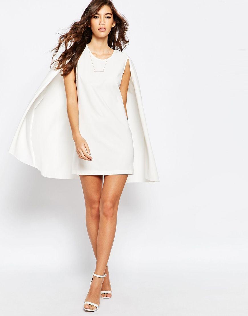 ASOS PETITE Cape Dress at asos.com