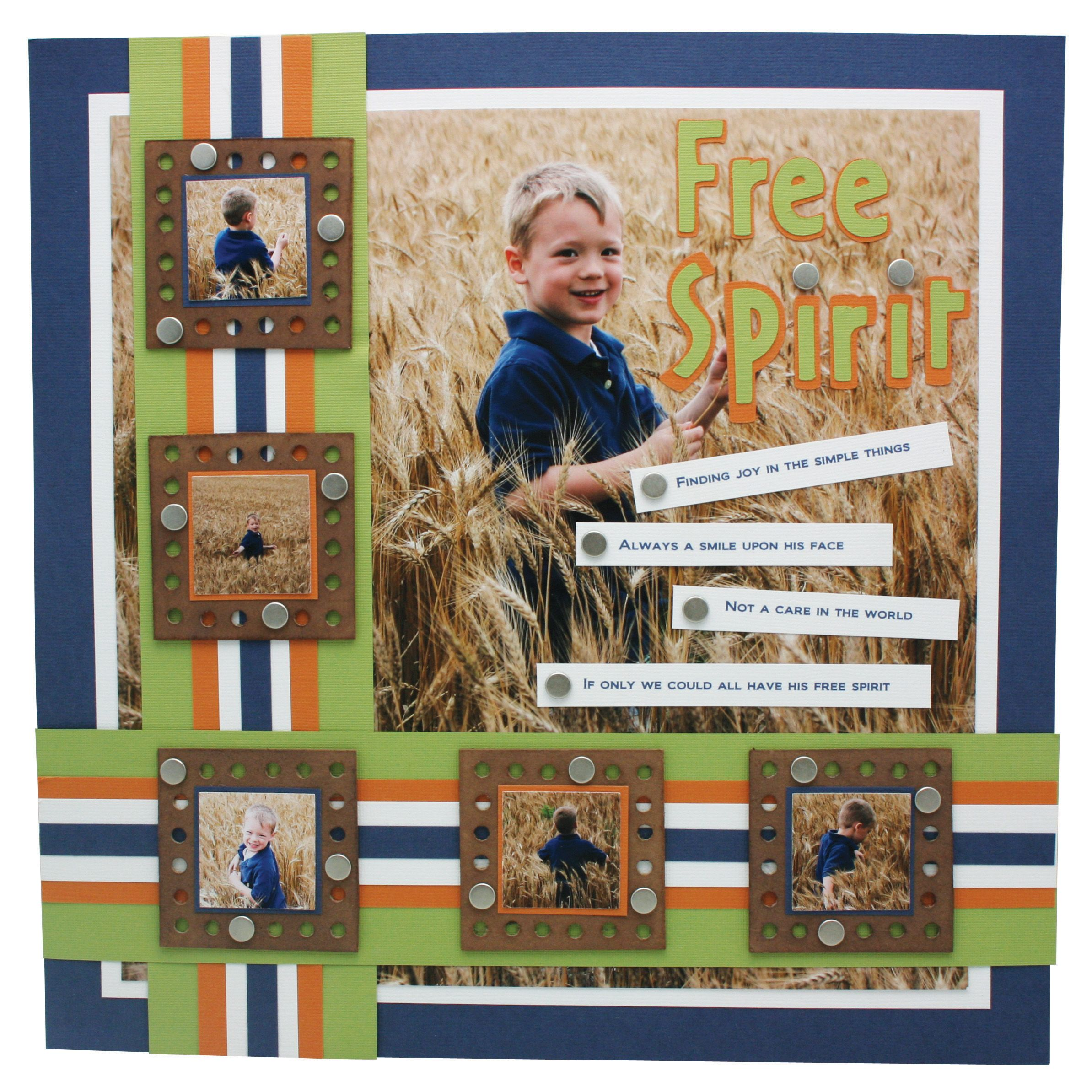 Scrapbook ideas layouts free - Tools hand punch free spirit layout jpg 2 387 2 387 pixels