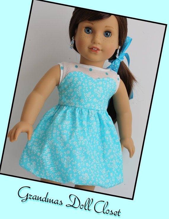 Handmade 18 inch doll clothes, Dress for your AG style doll | Dolls ...