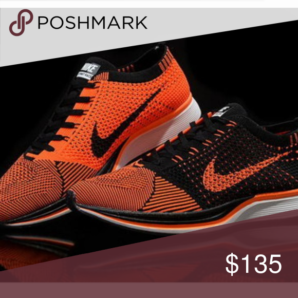 detailed look a9273 af4a5 ... promo code for nike flyknit racers orange and black only worn once for  an hour practically