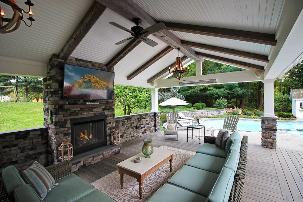 Awesome Outdoor Patio Cover Space With Stone Fireplace Outdoor Fireplace Designs Backyard Fireplace Rustic Outdoor Fireplaces