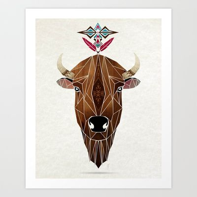 bison Art Print by Manoou - $17.00 | Inspiración | Pinterest ...