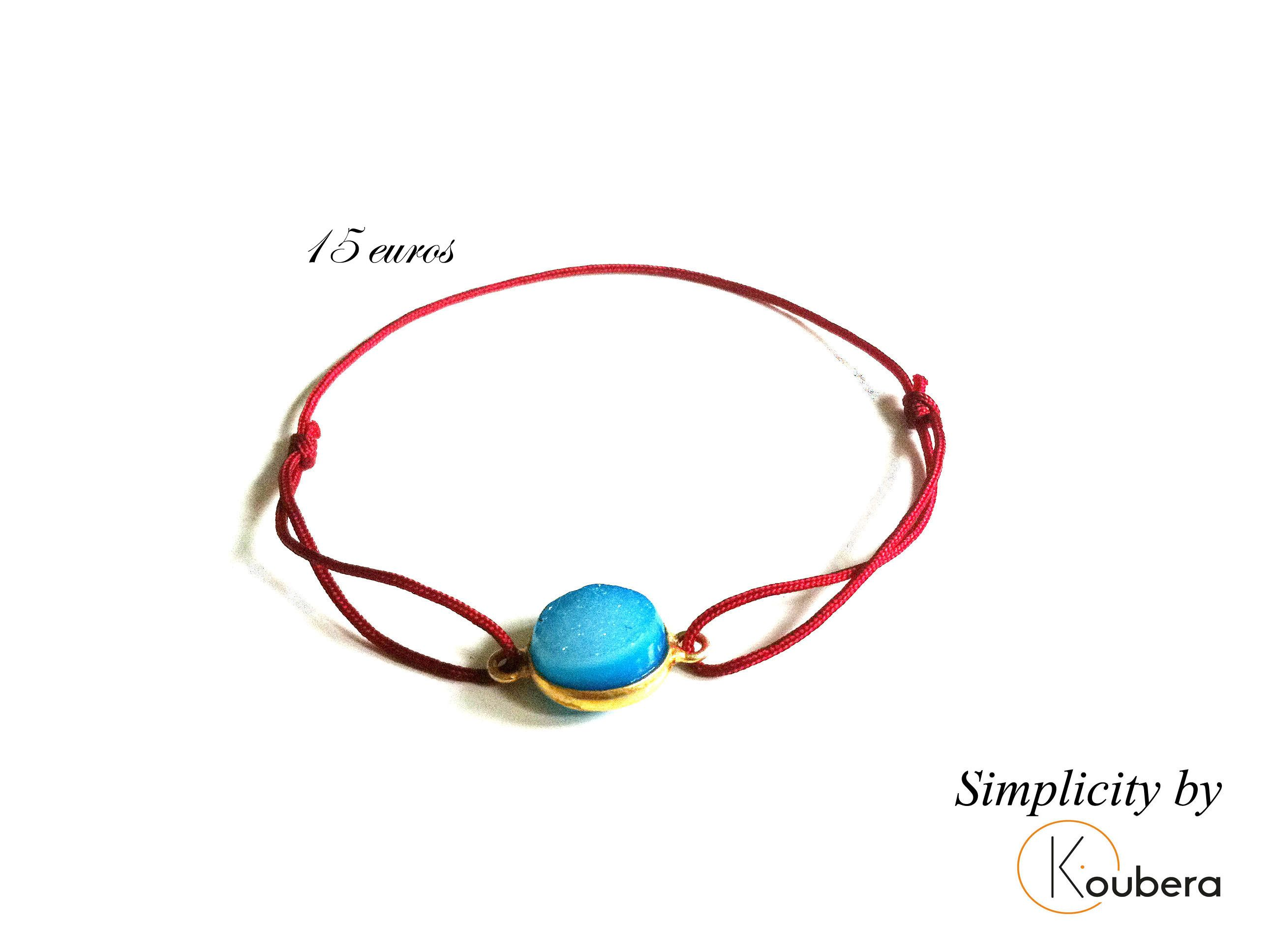 #koubera #accessoire de mode #bijoux #bracelet #pierre #plaque or #simplicity #mode #femme #2015