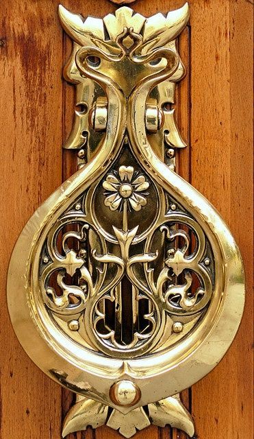 Superb Art Nouveau Door Knocker