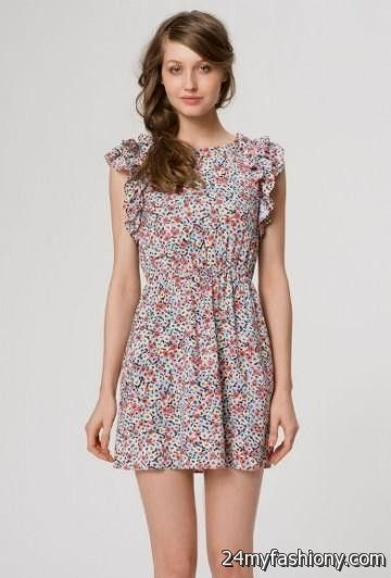 floral dress with sleeves 2016-2017 » B2B Fashion
